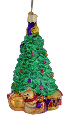 "Christmas Morning Tree Glass Ornament, 5"", OWC #48017"
