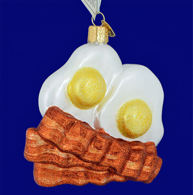 Bacon Eggs Glass Ornament Old World Christmas 32210