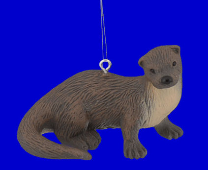"Sea Otter Ornament, 2 7/8"", break resistant #SL7601"