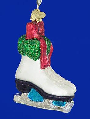 Holiday Ice Skates Old World Christmas Glass Ornament 44052