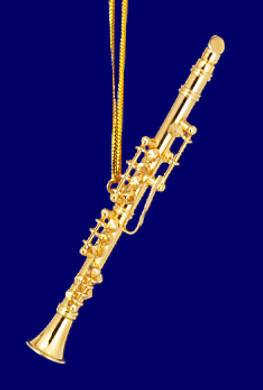 Clarinet Ornament Mini Clarinet Gold Brass 3 Small