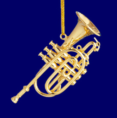 Cornet Ornament Mini Cornet 2.5 Gold Brass Small
