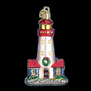 Lighthouse Glass Ornament