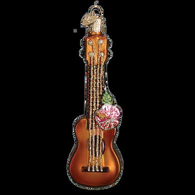 Ukulele Glass Ornament