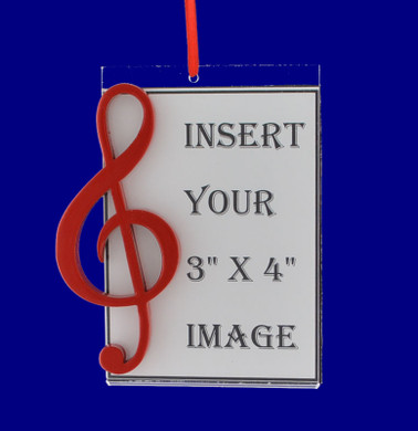 Picture Frame Red Music Note Gift Christmas Ornament