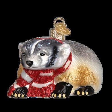 Badger Glass Ornament