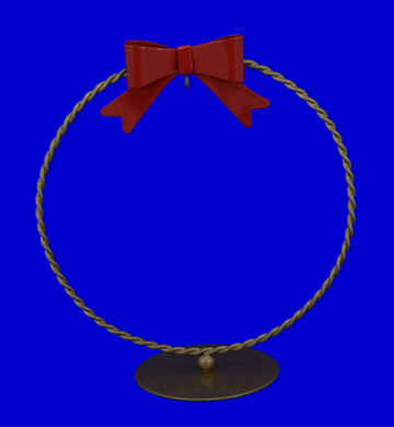 Round Braided Ornament Display Stand Gold plated Old World Christmas 14203