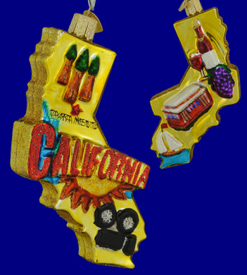 State of California Old World Christmas ornament 36188