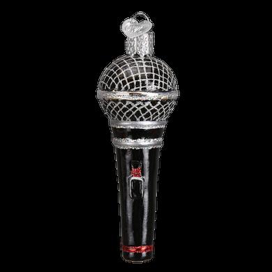 Microphone Glass Ornament