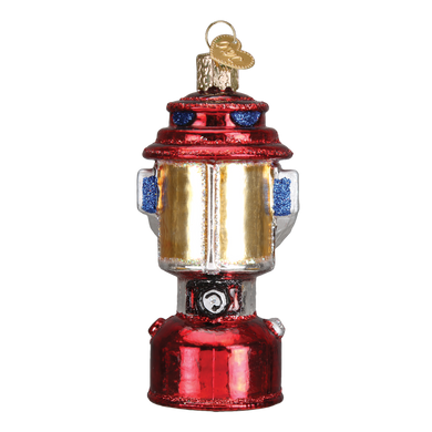 Camping Lantern Glass Ornament