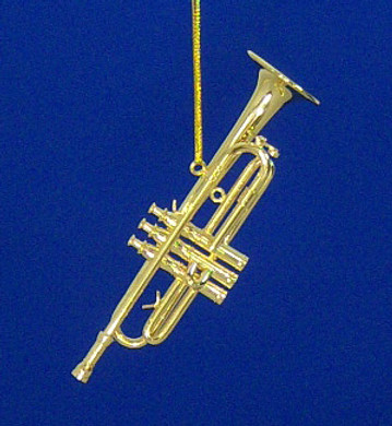 Trumpet Ornament Mini Trumpet 3.5 Gold Metal Medium