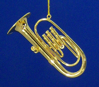 Baritone Tuba Ornament Mini Tuba 2.87 Gold Metal Medium
