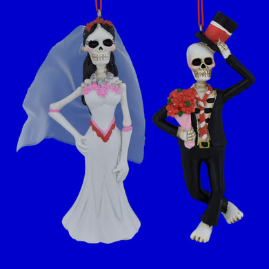 Day of Dead Bride or Groom Ornament
