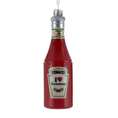 Ketchup Bottle Glass Ornament by KSA