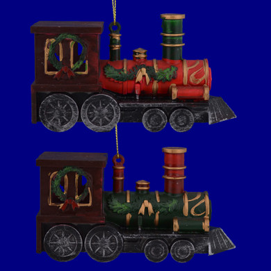 Holiday Plastic Train Ornaments