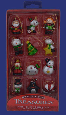 12 Assorted Miniature Ornaments H9551