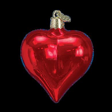 Large Shiny Heart Glass Ornament