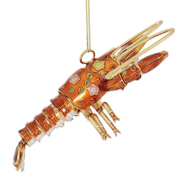 Lobster Articulated Cloisonne Ornament