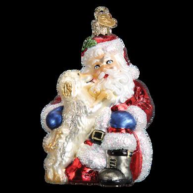 Santa's Puppy Love Ornament