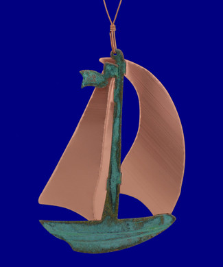 Copper Sailboat Ornament by Korman