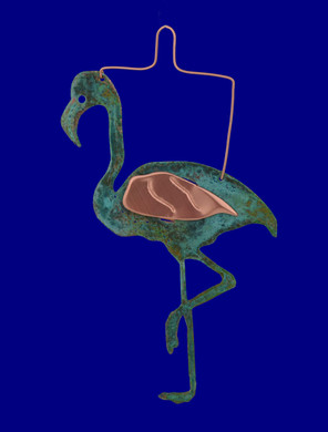 copper flamingo Ornament by Korman