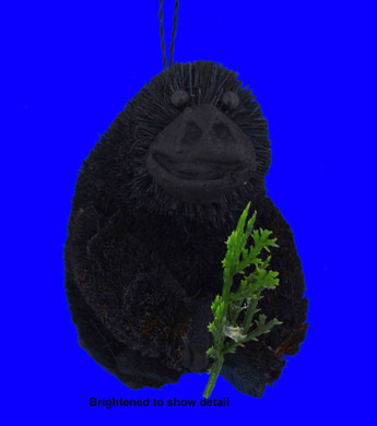 Buri Gorilla with Twig Ornament