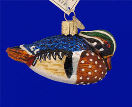 Wood Duck Old World Christmas Glass Ornament 16046