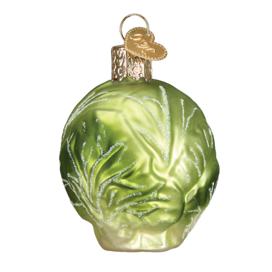 Brussel Sprout Glass Ornament