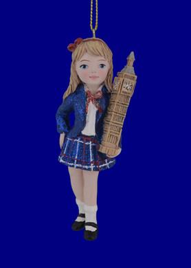 England British Girl International Ornament