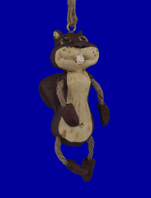 Comical Dangle Legs Squirrel Ornament