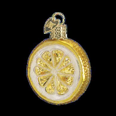 Lemon Slice Fruit Glass Ornament