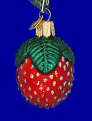 Sparkling Strawberry Fruit Old World Christmas Glass Ornament 28021