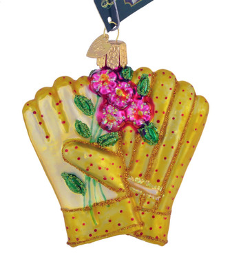 "Gardening Gloves Glass Ornament, 3 3/8"", OWC# 32329"