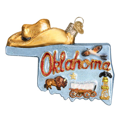 State Of Oklahoma Glass Ornament 36224 Old World Christmas