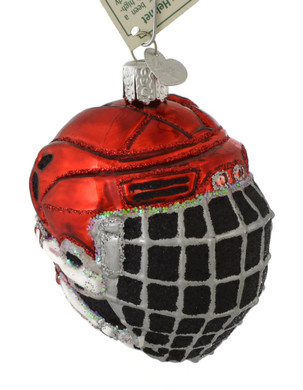 Ice Hockey Helmet Glass Ornament by Old World Christmas 44113