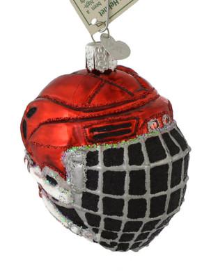 Ice Hockey Helmet Glass Ornament by Old World Christmas 44113