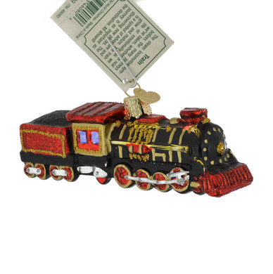 Coal Train Glass Ornament 46080 Old World Christmas
