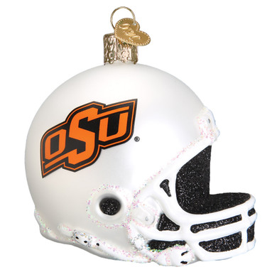 NCAA Oklahoma State Football Helmet Glass Ornament 60517 Old World Christmas