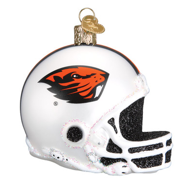 NCAA Oregon State Football Helmet Glass Ornament 61617 Old World Christmas