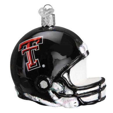 NCAA Texas Tech Football Helmet Glass Ornament 63217 Old World Christmas