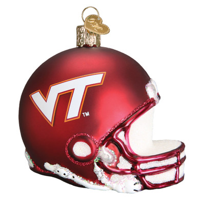 NCAA Virginia Tech Football Helmet Glass Ornament 64317 Old World Christmas