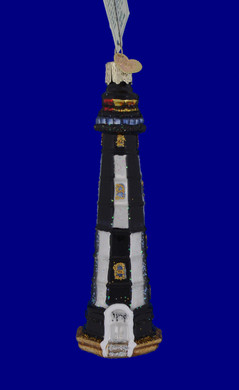 New Cape Henry Lighthouse Old World Christmas Glass Ornament 20028