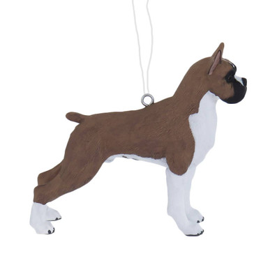 Male Boxer Dog Ornament
