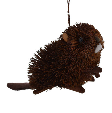 "Woodland Buri Animals Beaver Ornament, 3 1/4 x 5 1/2"", JWKA4234"