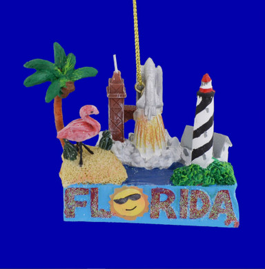 Florida Vacation Shelf Edge Sitter Ornament