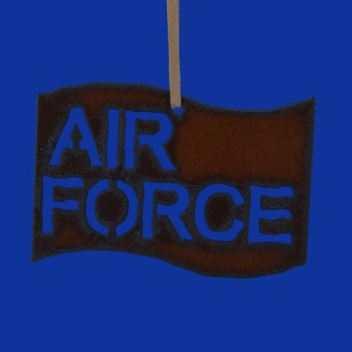 Rustic Cut Steel Air Force Flag Ornament