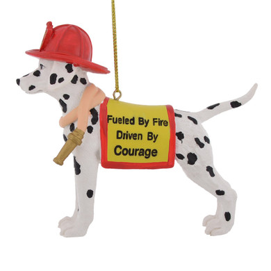Fuel by Fire Firefighter Dalmatian Ornament