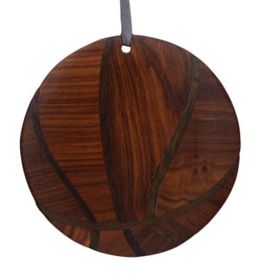 Basketball Intarsia Wood Ornament