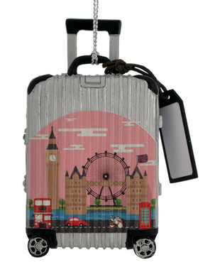 Europe Travel Luggage London Ornament