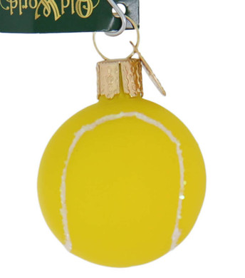 Miniature Tennis Ball Glass Ornament
